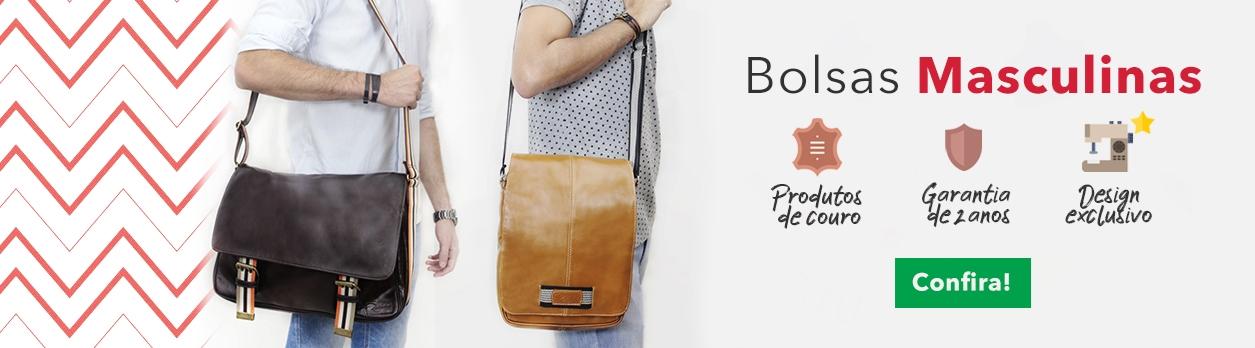 Conheça nossas Bolsas Masculinas