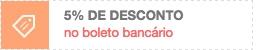 5% de desconto no boleto bancário
