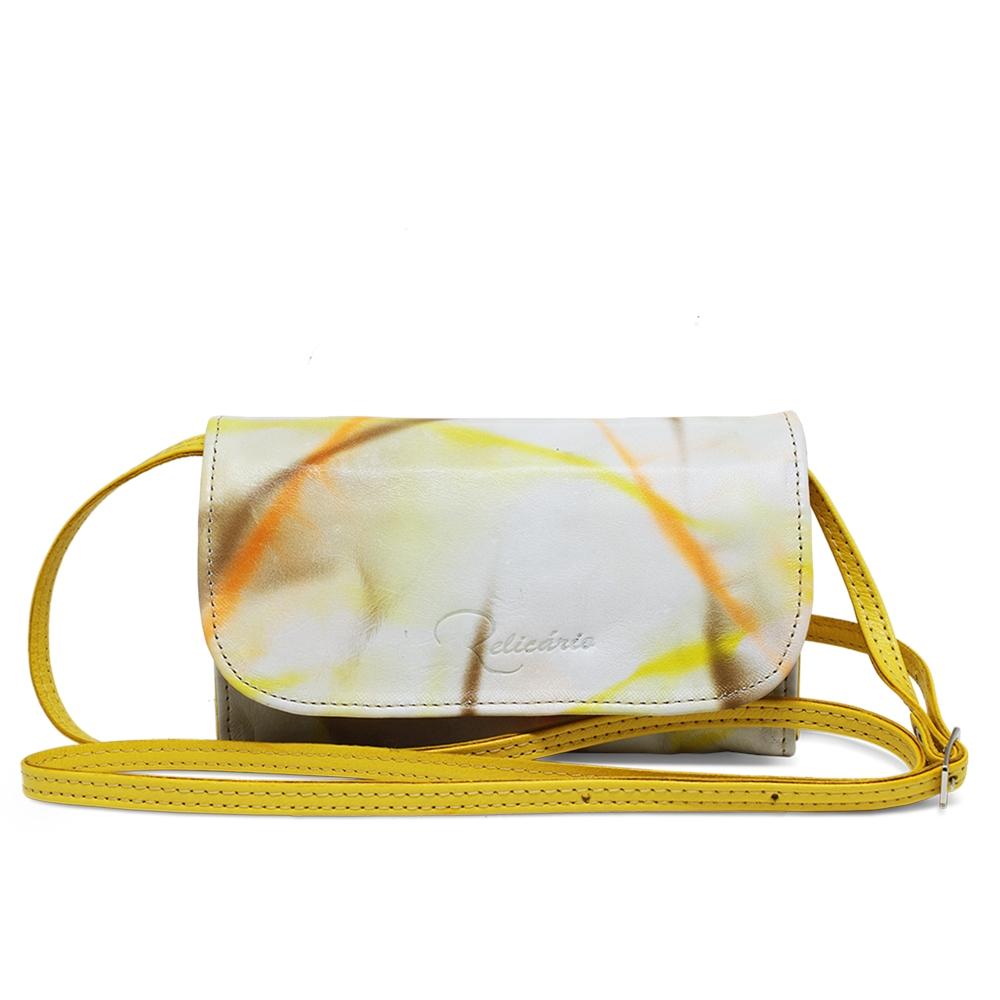Bolsa a Tiracolo Luna Amarelo - Coleção Cores da Primavera