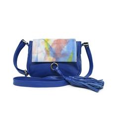 Bolsa Carteiro de Couro Alice - Azul