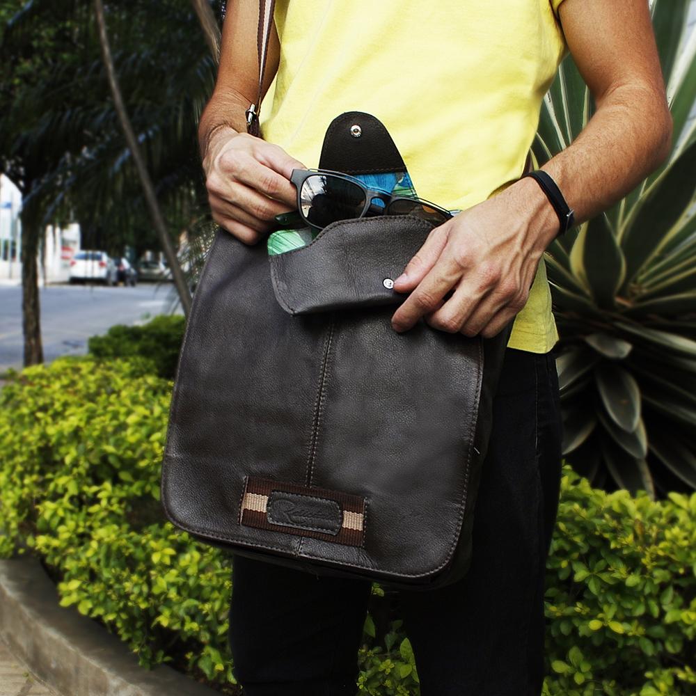 73befa827 Bolsa carteiro de couro Apolo Café | Bolsas masculinas