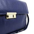 Bolsa Carteiro de Couro Giulia - Azul Marinho