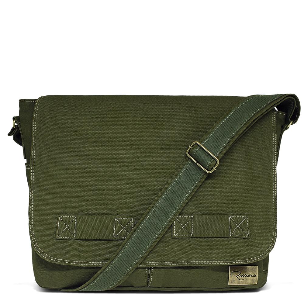624d0779ab966 Bolsa carteiro de lona Jack Verde   Bolsas masculinas
