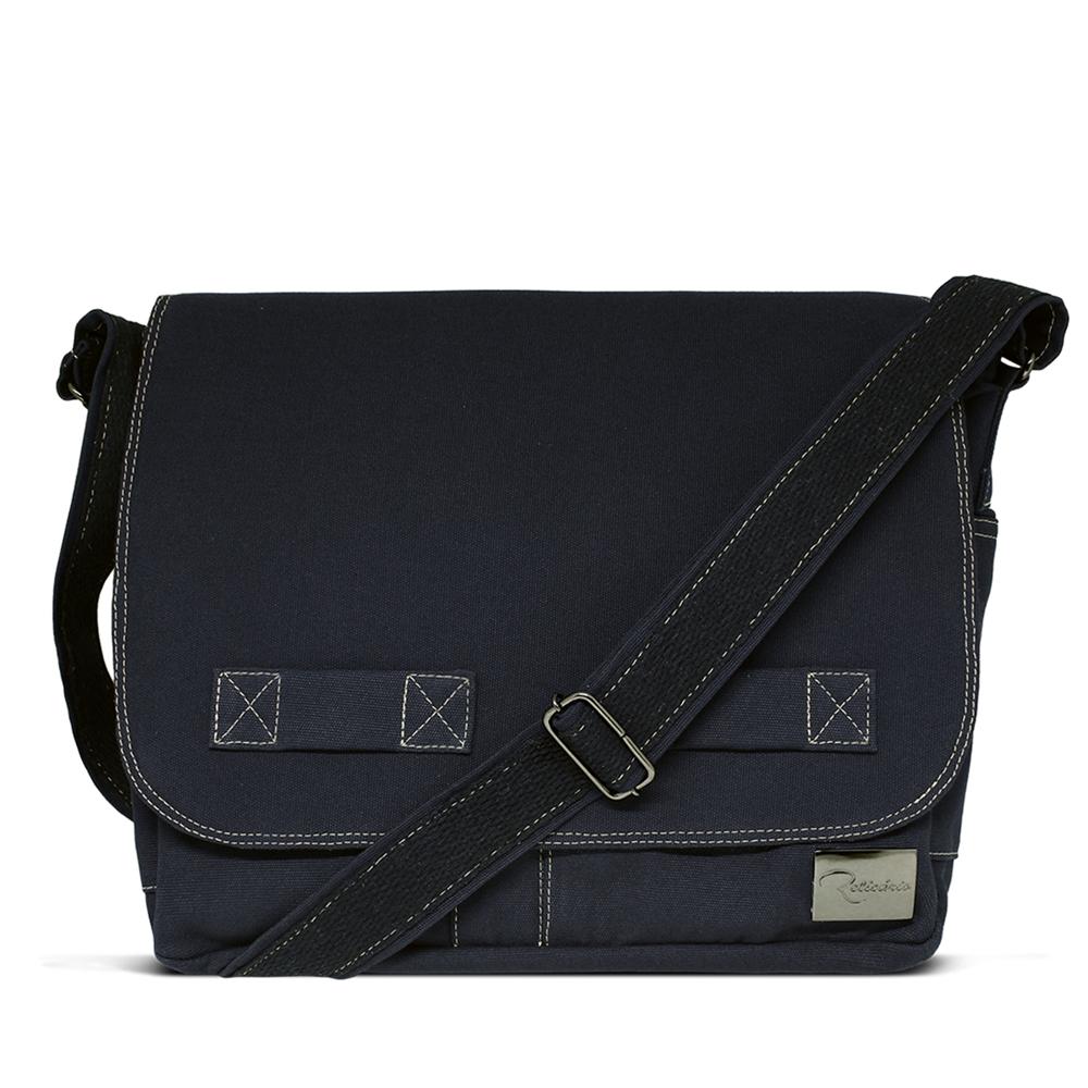 Bolsa Carteiro de Lona Jack  Azul Marinho