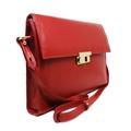 Bolsa Carteiro Feminina de Couro Giulia - Vermelha