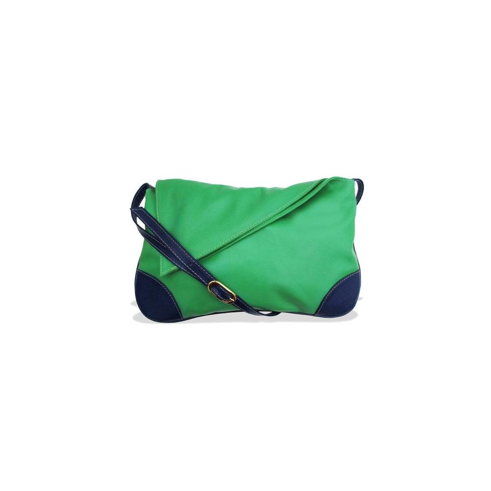 Bolsa Carteiro Feminina de Couro Jennie - Verde