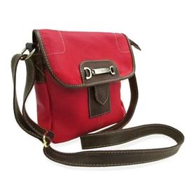 Bolsa Carteiro Feminina de Couro Nancy – Vermelha