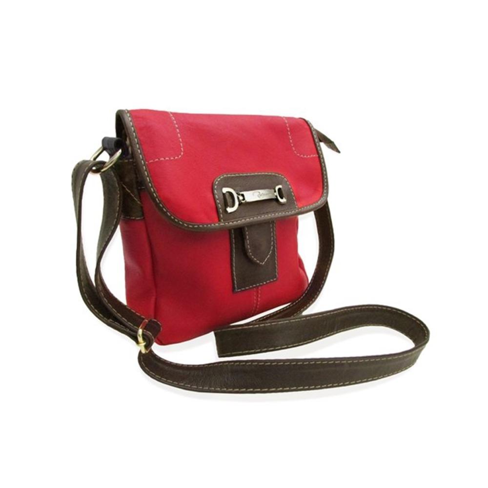 Bolsa Carteiro Feminina de Couro Nancy - Vermelha
