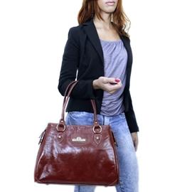 Bolsa de Couro Anne – Pinhão