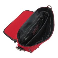 Bolsa de Couro e Lona Retrô – Vermelho
