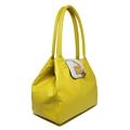Bolsa de Couro Feminina Camila Amarelo