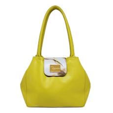 Bolsa de Couro Feminina Camila Amarelo - Coleção Cores da Primavera