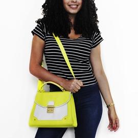 Bolsa De Couro Lola - Amarelo
