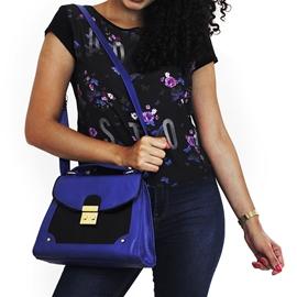 Bolsa De Couro Lola - Azul Marinho