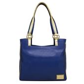 Produto Bolsa de Couro Rose – Azul