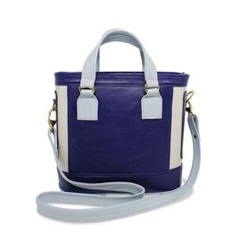Bolsa de Couro Satchel Lorena - Azul Marinho