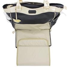 Bolsa para Bebê de Couro Modelo Laís - Preto