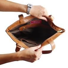 Bolsa Saco de Couro Joana – Caramelo