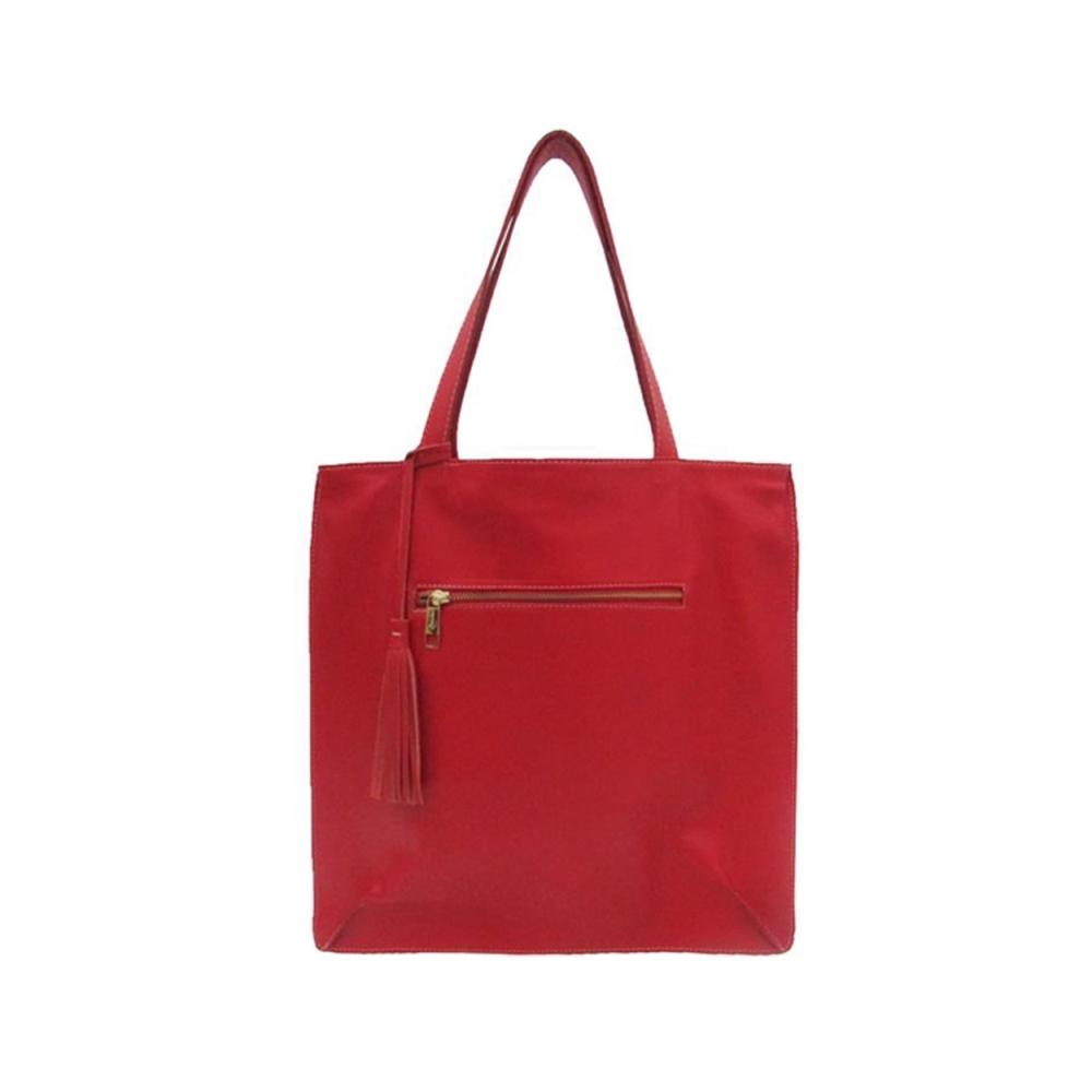 fb5cf2880 Bolsa Saco de Couro Joana – Vermelha   Bolsas Femininas
