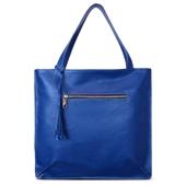 Produto Bolsa Saco de Couro Joana - Azul