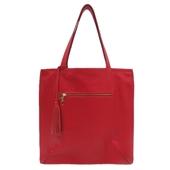 Produto Bolsa Saco de Couro Joana - Vermelha