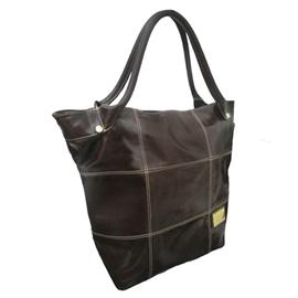 Bolsa Saco de Couro Squares – Chocolate