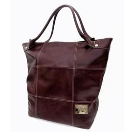 Bolsa Saco de Couro Squares – Pinhão