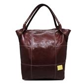 Produto Bolsa Saco de Couro Squares – Pinhão