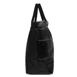 Bolsa Saco de Couro Squares – Preto