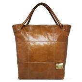 Produto Bolsa Saco de Couro Squares - Caramelo