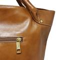 Bolsa Saco de Couro Squares - Caramelo