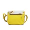 Bolsa Transversal de Couro Malu Amarelo - Coleção Cores da Primavera   Por Nanda Soares