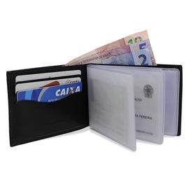 Carteira de Couro Dollar – Preto