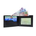 Carteira de Couro Euro - Preto