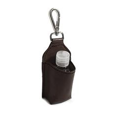 Chaveiro de Couro Porta Álcool em Gel - Marrom Café