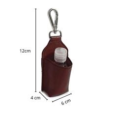 Chaveiro de Couro Porta Álcool em Gel - Pinhão