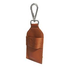 Chaveiro Porta Álcool em Gel de Couro - Caramelo