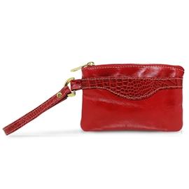 Clutch Feminina de Couro Liza – Vermelha