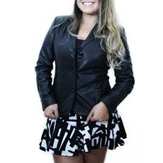 Jaqueta Feminina de Couro modelo Carmen - Preto