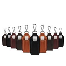 Kit - 10 Chaveiros de Couro Porta Álcool em Gel