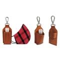 Kit - 5 Chaveiros de Couro Porta Álcool em Gel