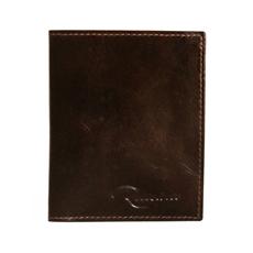 Mini-carteira de Couro Florim – Chocolate