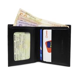 Mini-carteira de Couro Florim – Preto