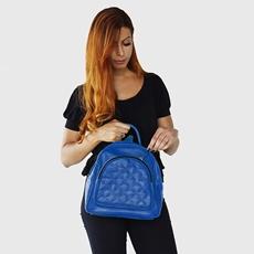 Mochila Feminina de Couro Mirelly - Azul