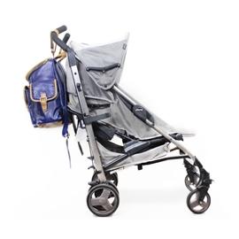 Mochila para Bebê de Couro Modelo Gabriel - Azul Marinho