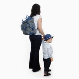 Mochila para Bebê de Couro Modelo Gabriel - Cinza