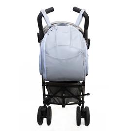 Mochila para Bebê de Couro Modelo Manuela - Azul Bebê