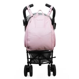 Mochila para Bebê de Couro Modelo Manuela - Rosa Bebê