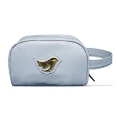 Necessaire de Couro Little Bird - Azul Bebê