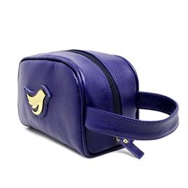 Necessaire de Couro Little Bird - Azul Marinho